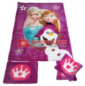 Karpet Rasfur Frozen Flower Dasar Barney