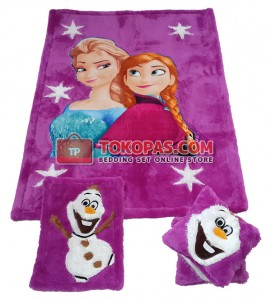 Karpet Rasfur Frozen Star Dasar Barney