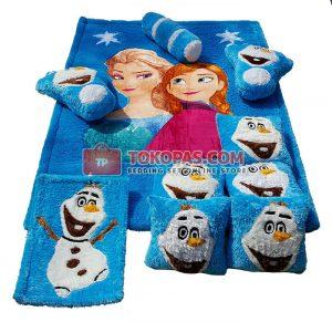 Karpet Fullset Rasfur Frozen Star Dasar Elmo