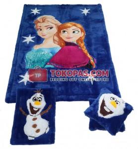 Karpet Rasfur Frozen Star Dasar Biru BCA