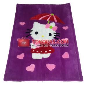 Karpet Rasfur / Bulu Boneka HK. Payung Dasar Barney Baju Merah