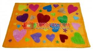 Karpet Rasfur Love Story Dasar Kuning Pooh