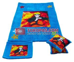 Karpet Rasfur Naruto Printing Dasar Biru Elmo