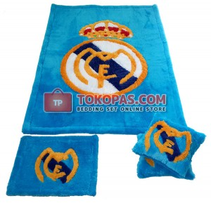 Karpet Rasfur Real Madrid Dasar Biru Elmo