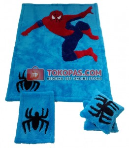 Karpet Rasfur Spiderman Dasar Biru Elmo