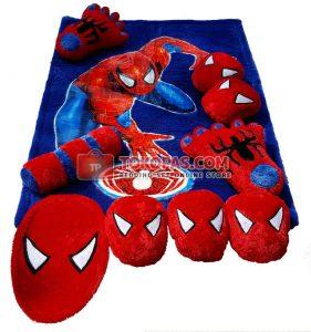 Karpet Fullset Rasfur Spiderman Sense Aplikasi