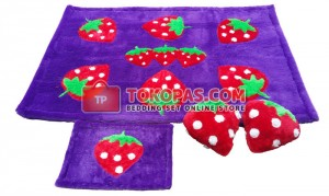 Karpet Rasfur Strawberry Dasar Lavender