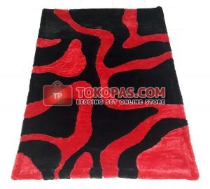 Karpet Rasfur Zebra Hitam Merah