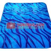 Karpet Selimut LA Zebra Biru