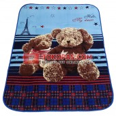 Karpet Selimut MD Bear Paris Biru