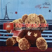 Selimut My Dream Bear Paris Biru