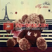 Selimut My Dream Bear Paris Cream