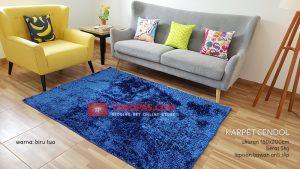 Karpet Cendol Blossom Biru Tua