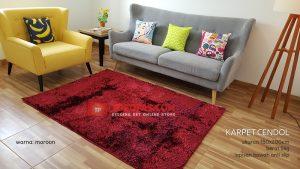 Karpet Cendol Blossom Maroon