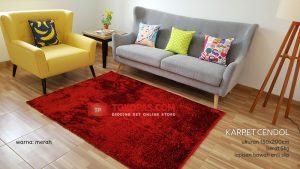 Karpet Cendol Blossom Merah