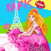 Selimut Rosanna Sutra Panel Barbie Paris