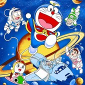 Selimut Rosanna Soft Panel Doraemon Space
