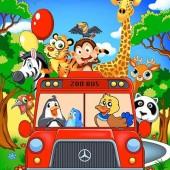 Selimut Rosanna Zoo Bus