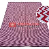 Karpet Kanvas / Canvas Chevron Merah
