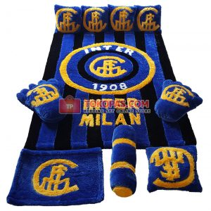 Karpet Rasfur Full Set Inter Milan Dasar Hitam