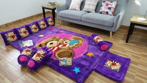 Karpet Rasfur Full Set Bear Dasar Lavender