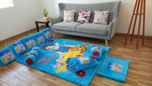 Karpet Full Set Snow White Dasar Biru Elmo