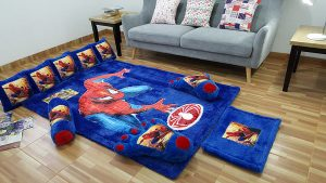 Karpet Full Set Spiderman Sense Dasar Biru BCA