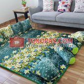 Karpet Selimut Full Set LY Green Fields