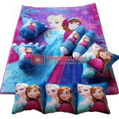 Karpet Selimut Full Set LY Frozen Pink