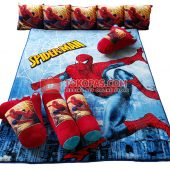 Karpet Selimut Full Set LY Spiderman Jaring