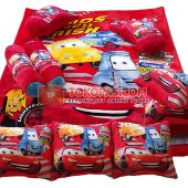 Karpet Selimut Full Set RO Cars Merah