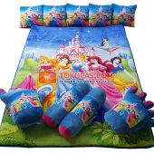 Karpet Selimut Full Set RO Princess Istana Biru