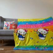 Selimut Karakter, Selimut Bulu Lembut Junior JN Hello Kitty Rainbow