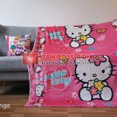 Selimut Karakter, Selimut Bulu Lembut Junior JN Hello Kitty Bunga