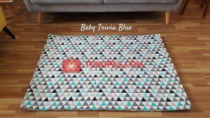 Karpet Katun Baby Trivia Blue