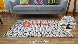 Karpet Katun Baby Trivia Orange