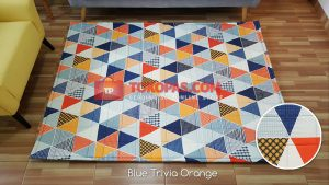 Karpet Katun Blue Trivia Orange