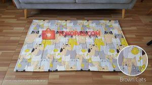 Karpet Katun Brown Cats
