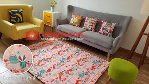 Karpet Katun Cuddle Up Pink