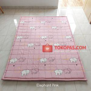 Karpet Lantai Katun - Elephant Pink