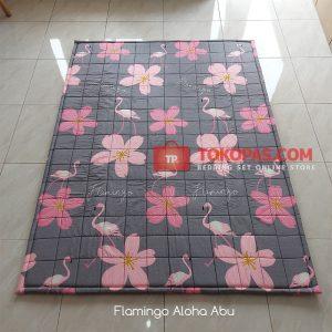 Karpet Lantai Katun - Flamingo Aloha Abu