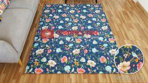 Karpet Katun Gardenia Biru