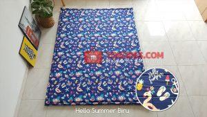 Karpet Lantai Katun - Hello Summer Biru