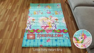 Karpet Katun Little Pony Heart Biru