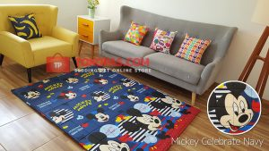 Karpet Katun Mickey Celebrate Navy
