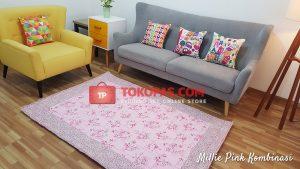 Karpet Katun Millie Pink Kombinasi