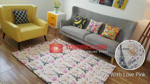 Karpet Katun Paris With Love Pink