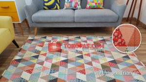 Karpet Katun Patchwork Triangle