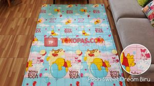 Karpet Katun Pooh Sweet Dream Biru