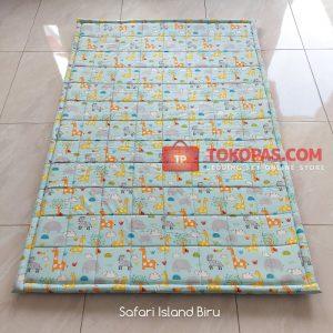 Karpet Lantai Katun - Safari Island Biru